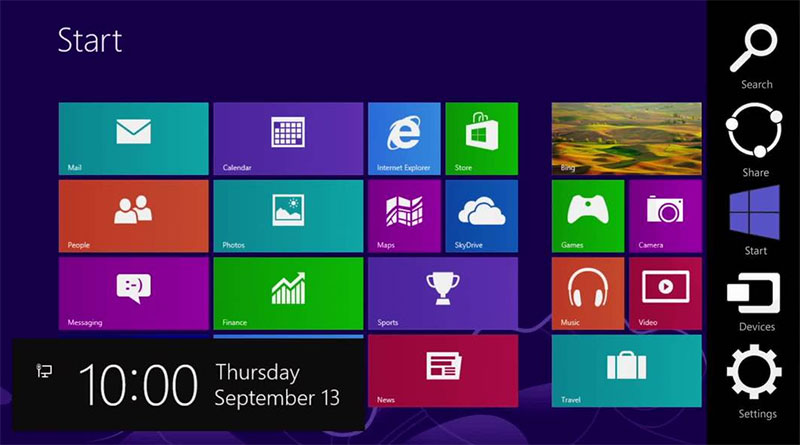 charms windows 8