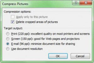 compress pictures ms word