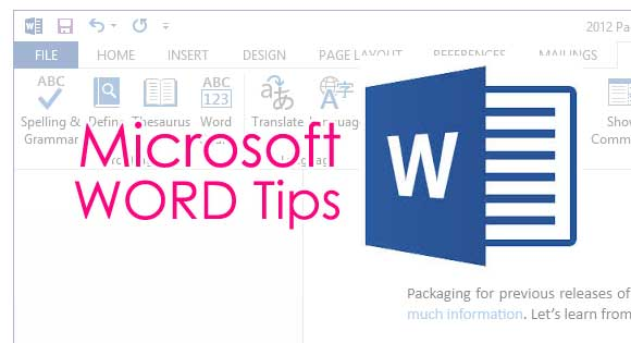 microsoft word tips