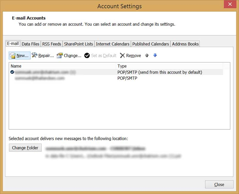 account settings screen ms outlook