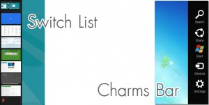 switch-list and charms-bar windows 8