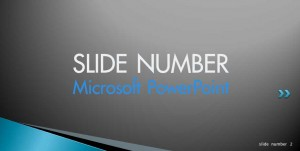 microsoft powerpoint slide number