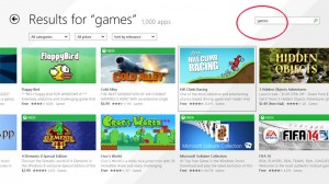 search apps windows store