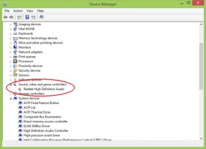 device manager sound-caard