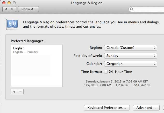 language region mac