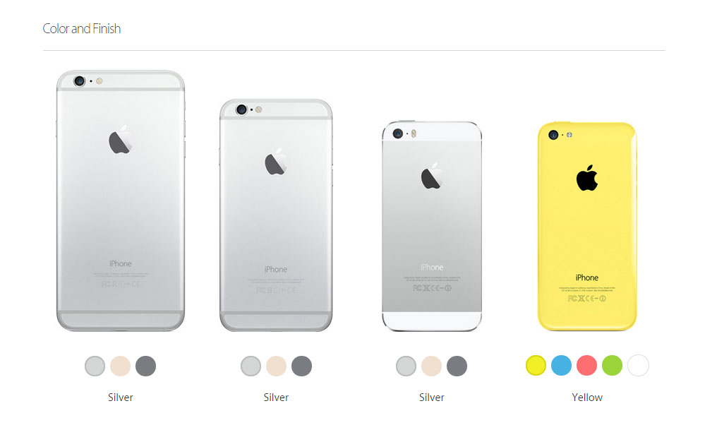 iphone all models color