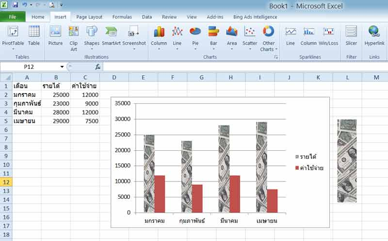 pictographs excel