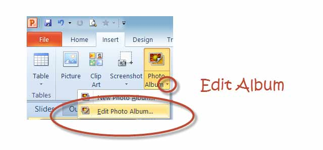 edit-album powerpoint