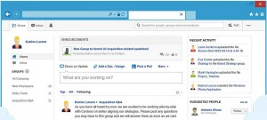 yammer main screen
