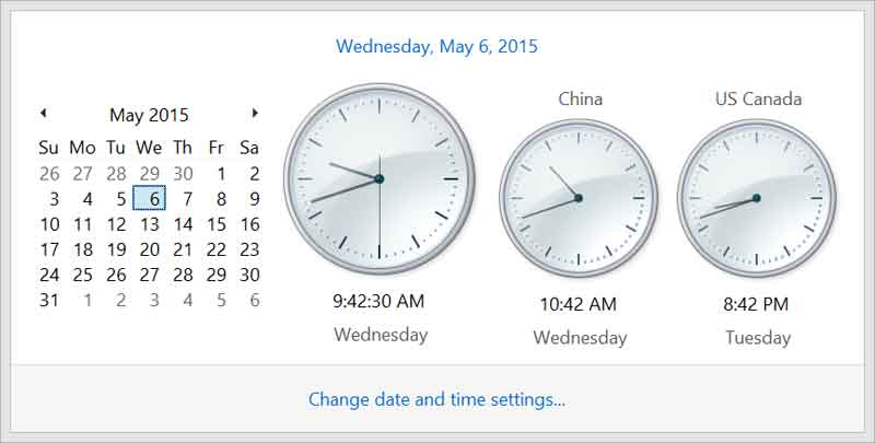 additional-clock Windows