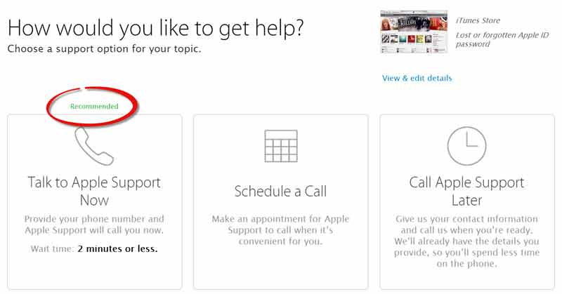 call Apple support