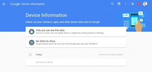 google device information