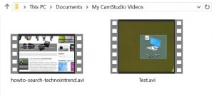 camstudio saved folder