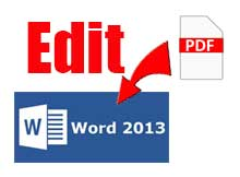 edit PDF with Word 2013