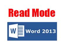 read mode MS Word