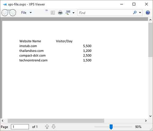 xps viewer