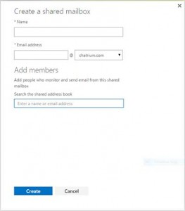 create shared_mailboxes screen