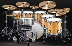 drum set on web