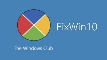 fixwin 10_the windows club