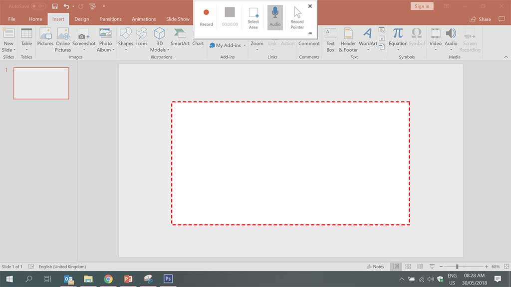 screen recording MS PowerPoint